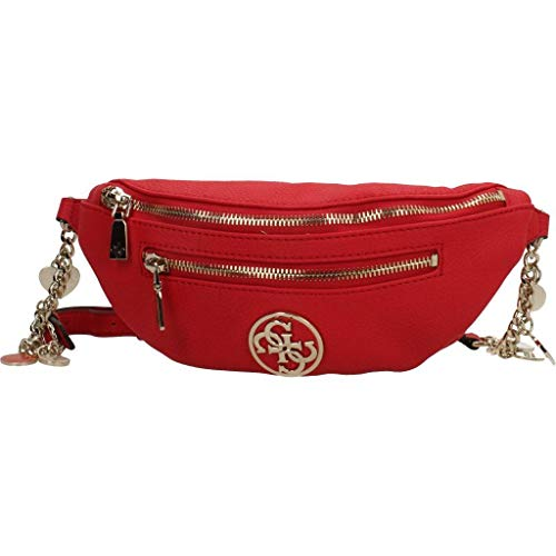 X Bolso 30x13 Para 5x6 w Guess red H Bag Negro Detail Centimeters Belt Mujer L Bandolera wRRPg1q