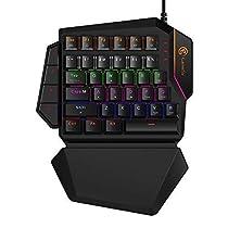 GameSir GK100 Teclado Mecánico para Juegos de Una Mano con Retroiluminación LED Luces para Windows PC