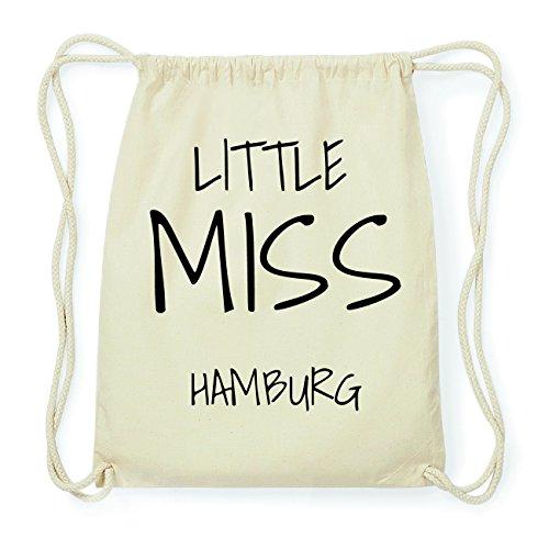 JOllify HAMBURG Hipster Turnbeutel Tasche Rucksack aus Baumwolle - Farbe: natur Design: Little Miss