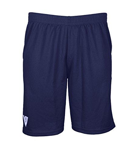 VMZ Fashion Mens Dri Fit Basketball Shorts (Navy, Large)