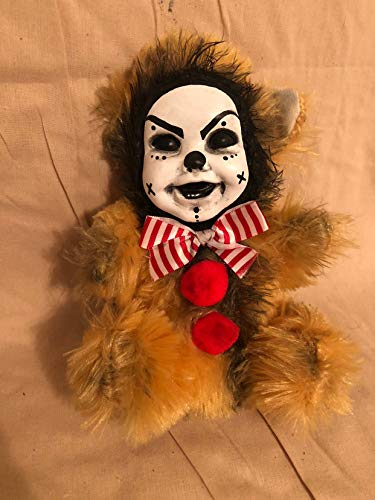OOAK Smiling Cute Clown Teddy Bear Creepy Horror Doll Art Christie Creepydolls from Christie Creepy Dolls