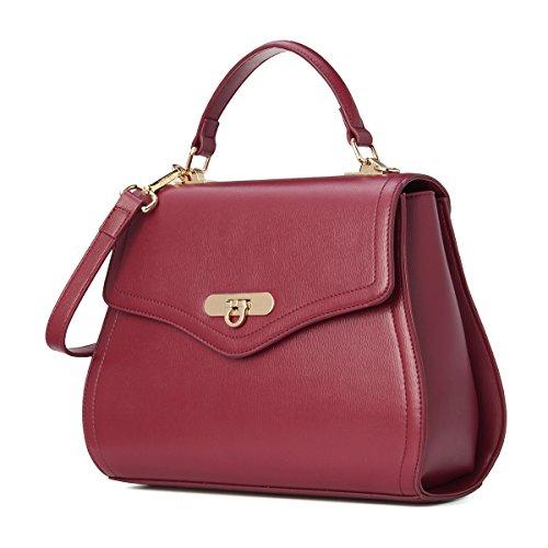 kadell 2017 nouvelle conception élégante dame lock flap sac Noir Rouge