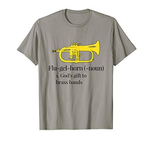 Photo Funny Flugelhorn T-Shirt - God`s gift to brass bands