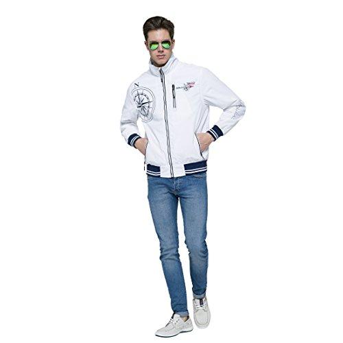 Herren Hudson Jacke Segeljacke Nebulus T177 weiß g6w77Pq