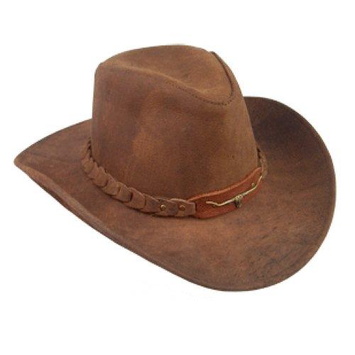Kakadu Brumby - Distressed Leather Australian Hat (Small) - Kakadu Leather Hat