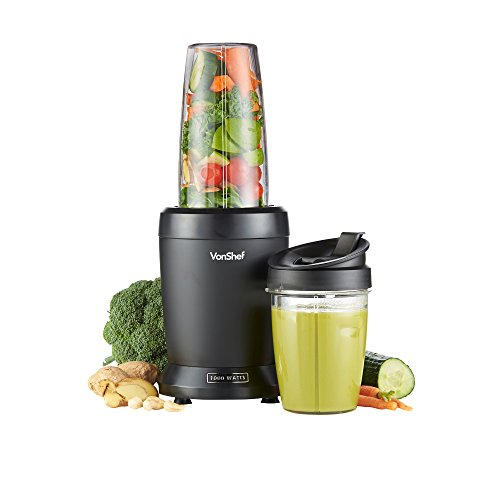 -[ VonShef 1000W UltraBlend Personal Blender Smoothie Maker includes 800ml and 500ml Cups  ]-