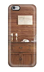 Excellent Design Traditional Rustic Buffet Table In Front Of Wood Panel Wall Case Cover For Iphone 6 Plus