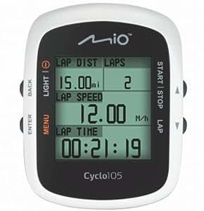Mio 10560105 Cyclo 105 - Ciclocomputador GPS, color blanco