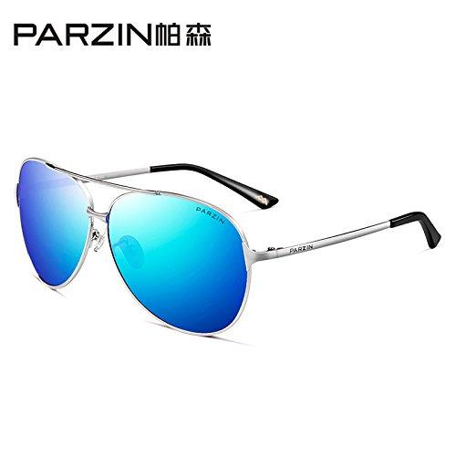 sol de gris marco hombres Frame tendencias Film sol de de la de gafas espejo negro sol del Gafas macho Reverse gafas negro unidad de de sol Silver Blue Film Sky controlador Gafas KOMNY polarizadas SdqO8x8w
