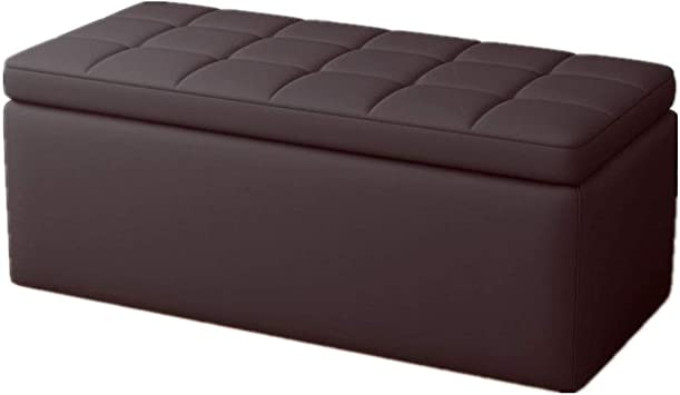 Amazon Com Storage Bench Faux Leather Living Room Sofa Coffee