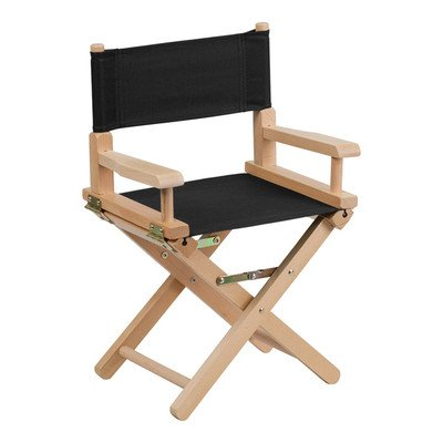 Kids Directors Chair Color: Black by Offex