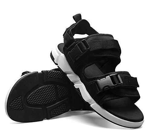 Tamaño Sandalias los de 44 Moda Negro de Hombres Desmontable Doble Joker Zapatillas Gris 39 Sandalias Negro Uso RwRqOdx
