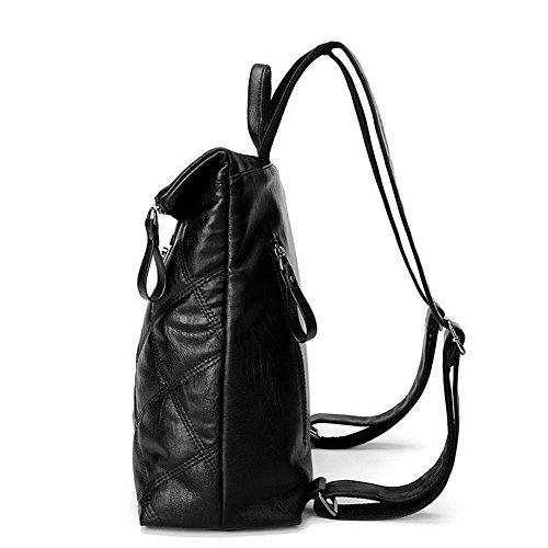 à randonnée dos Boucle de Pu Noir Daypack AgooLar GMBBB180705 Daypacks Sacs Femme Cuir qpXUzxR8