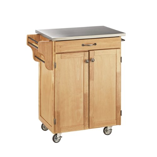 Home Styles 9001-0012 Create-a-Cart 9001 Series Cuisine Cart with Stainless Top, Natural, 32-1/2-Inch by Home Styles