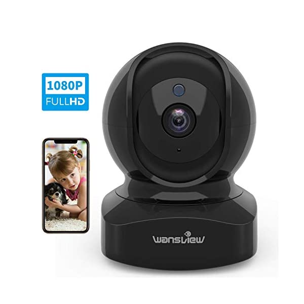 Wansview Wireless Security Camera 1080P HD Wansview, WiFi Home Indoor Camera for Baby/Pet/Nanny, Motion Detection, 2 Way Audio Night Vision, Works with Alexa, with TF Card Slot and Cloud