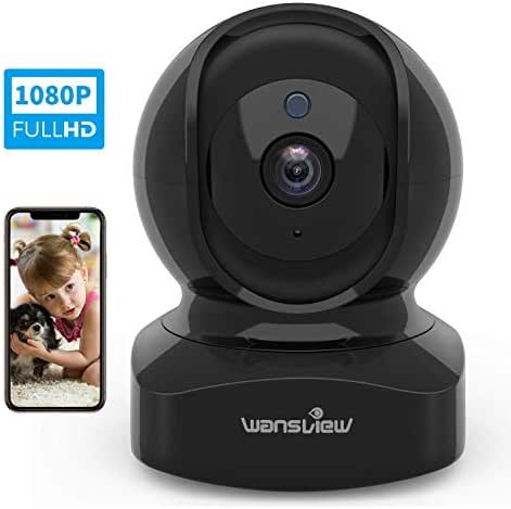 Wireless Security Camera, IP Camera 1080P HD Wansview, WiFi Home Indoor Camera for Baby/Pet/Nanny, Motion Detection, 2 Way Audio Night Vision, Works with Alexa, with TF Card Slot and Cloud
