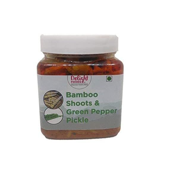 Delight Foods Bamboo Shoots & Green Pepper Pickle,400g