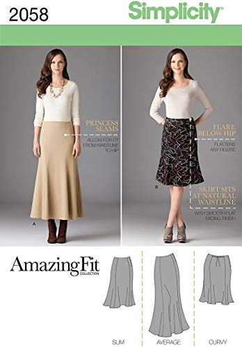 (Simplicity 2058 Women's Skirt Sewing Patterns, Sizes 20W-28W)