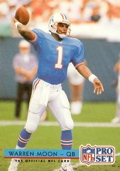Warren Moon Football Card (Houston Oilers) 1992 Pro Set  186 at ... 0b4b58642