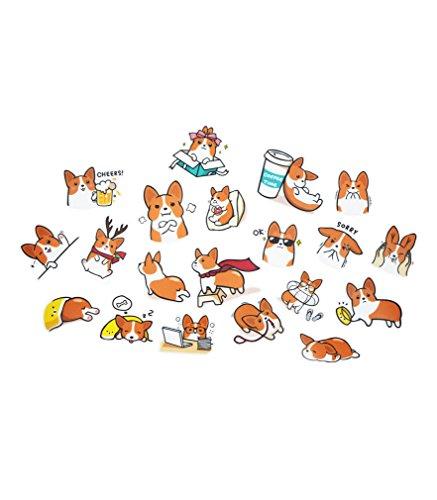 Nayothecorgi Corgi Theme Plastic LINE Sticker (Set 2)