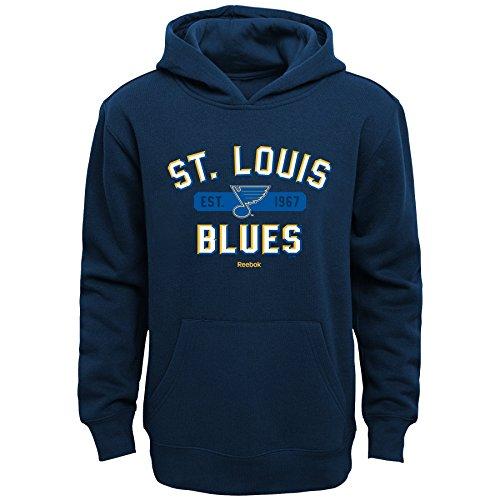 Outerstuff NHL St. Louis Blues Boys Kids Todays Highlights Fleece Hoodie, Medium/(5-6), Navy