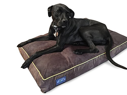 First-Quality-Orthopedic-Dog-Bed-Pure-Premium-Shredded-Memory-Foam-Ideal-for-Aging-Dogs-Eases-Pain-of-Arthritis-Hip-Dysplasia-Waterproof-180-GSM-Removable-Washable-Cover