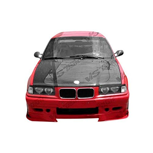 (Brightt (VIS-VLN-255) OEM Style Hood Carbon Fiber - Compatible for BMW 3 SERIES(E36) 1992-1998 (1992 1993 1994 1995 1996 1997 1998 | 92 93 94 95 96 97)