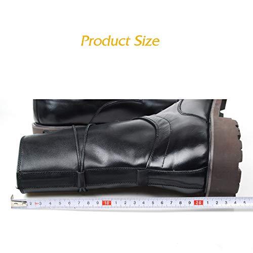 Boots Pour Black Hommes D'équitation Longues Cuir Shoe Tall Hiver FwqOAx