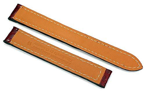 15 mm alligator armband lämpligt för Cartier hopfällbart spänne, tyskt hantverk.