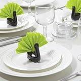 Ceramic Napkin Holders Swans Peleg Design Black