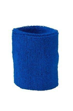 Schweissband Schweissbänder in vielen Farben unisex Sport Jogging Wristband Sweatband Schweißband Wristbands Armband (Preis pro Stück) (royal blau)