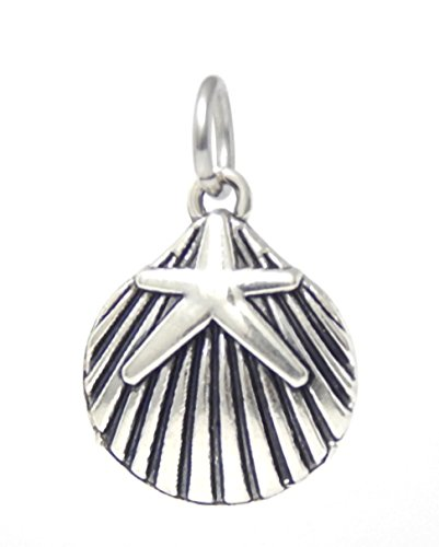 J&M Dangle Sea Shell and Starfish Charm Bead for Charms Bracelets ()
