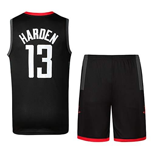 DEBND Men Basketball Uniform Set NAB Houston Rockets 13# Harden Basketball Jersey Classic Embroidery Basketball Swingman Sleeveless Top/&Shorts
