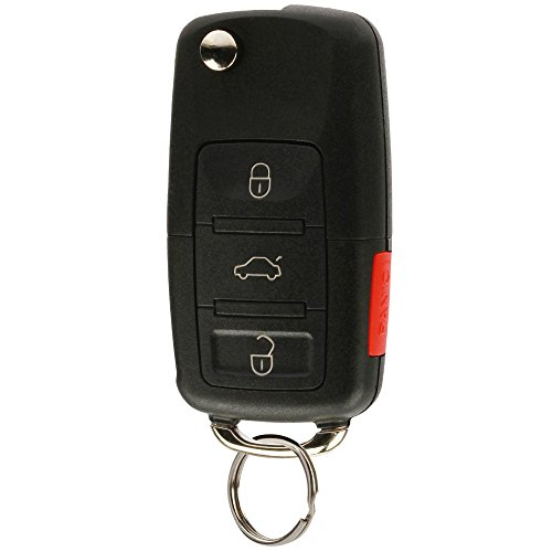 Replacement Keyless Entry Remote Flip Key Fob fits 2002 2003 2004 2005 VW Jetta, Golf, Passat (HLO1J0959753AM)