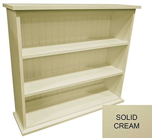Sawdust City Solid Wood Hall Bookcase Solid – Cream