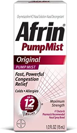 Afrin 12 Hour Pump Mist, Original, 0.5 Ounce