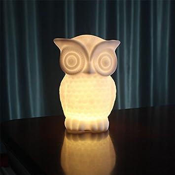 Yiwa Indoor dekorative Nachtlicht für Kinder Zimmer Party Dekor LED Nachtlicht Baby Eule Form PVC Tischlampe 1W warmes Weiß