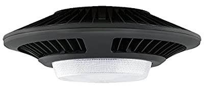 RAB Lighting GLED78 Garage Ceiling 78W Cool LED with Prismatic Lens, Bronze