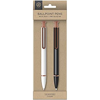 UBRANDS THE MONTEREY BALLPOINT PENS 2 PACK ROSE AND BLUE