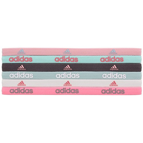 Adidas Nylon Headband (adidas Women's Fighter Hairband (6 Pack), One Size, Vapour Pink/Ice Mint/Vapour Green/Earth/White/Ray)