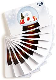 Amazon.com $25 Gift Cards, Pack of 10 (Holiday Globe Card Design)