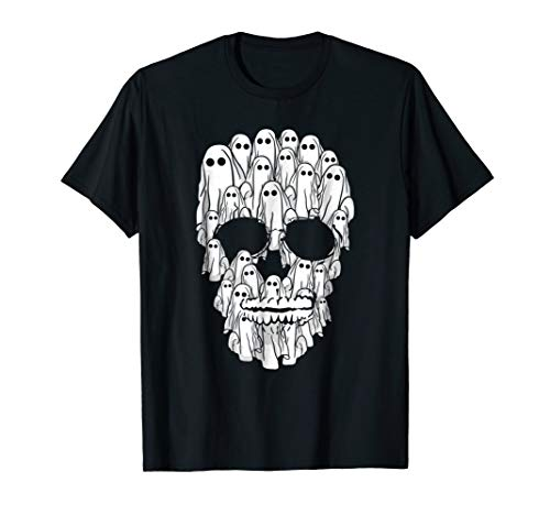 Sheet Ghost Skull! Funny Halloween T-Shirt -