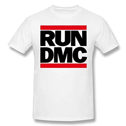 Men Run DMC Classic Short Sleeve T Shirt White,White,S