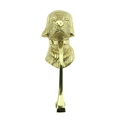 Dog Door Knocker (Door Knockers Lacquered Brass Dog Door Knocker 7 5/8 H X 2 1/2 W)
