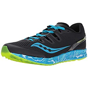 Saucony Men's Freedom Iso Running Shoe, Blue, 10.5 M US