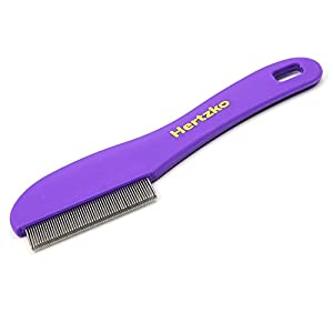 Hertzko Flea Comb with Double Row of Teeth Double Row of Closely Spaced Metal Pins Removes Fleas, Flea Eggs, and Debris… Click on image for further info.