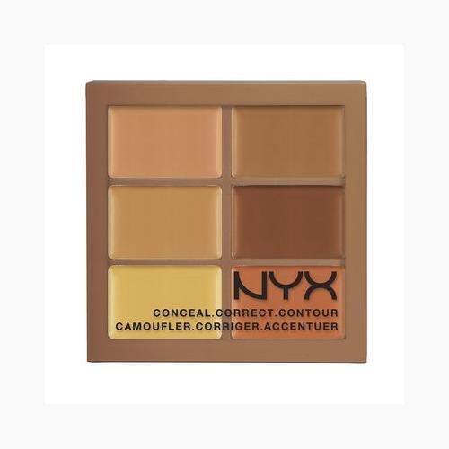 NYX Conceal Correct Contour Palette 3CP03 Deep (0.05 Oz) ()