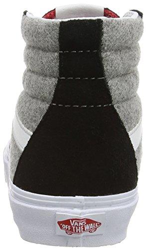 Multicolore Gray Wool Adulto VTS9BJ4 Sport Unisex Scarpe Ginnastica Alte da Vans Black Uq706Pw0