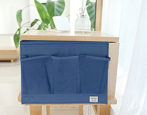 Heavy Duty Oxford 4 Pocket Bedside Caddy Hanging Table