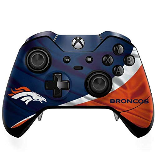 Skinit Denver Broncos Xbox One Elite Controller Skin - Officially Licensed NFL Gaming Decal - Ultra Thin, Lightweight Vinyl Decal Protection